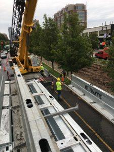 Installation of Steel Barrier